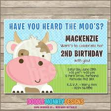 moo invitations cow birthday party invitations heritagetrails info