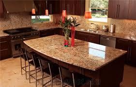 Crema Bordeaux Granite Kitchen Island Countertop
