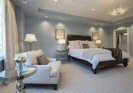 bedroom window treatment ideas featured in light blue bedroom design with dark