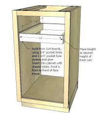 free standing trash can cabinet free standing trash can cabinet trash can kitchen cabinet garbage can