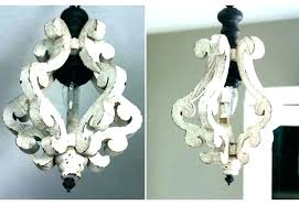 distressed wood chandelier rustic white chandeliers wooden french shabby w
