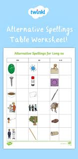The worksheets and activities included in this packet can be used for small group intervention, literacy center ideas, independent practice, or for homework.this bundl. Alternative Spellings Table Worksheet Phonics Activities Phonics 2nd Grade Worksheets