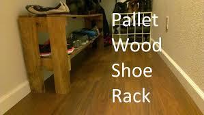 diy pallet shoe rack. Simple Shoe Rack From Reclaimed Pallet Wood Diy