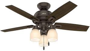donegan 44 inch 3 led light ceiling fan in onyx bengal with 5 dark walnut blade