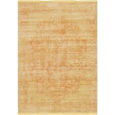 unique loom austin yellow 5 3 x 7 7 rug
