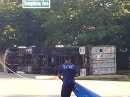Plainfield Truck Driver Overturns Trailer; Chemicals Leak from ...