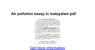 air pollution essay in malayalam pdf google docs