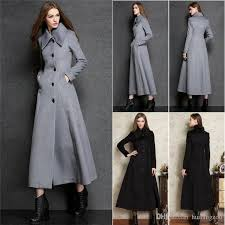 new brand winter coats for women black silver turtle neck fashion jackets long wool iziqgnt