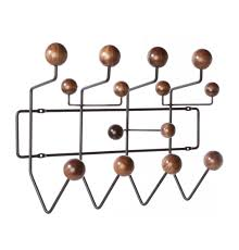 Eames Coat Rack Walnut Replica Eames HangItAll Walnut Oak by Charles and Ray Eames 10
