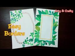 How To Decorate A Chart Paper Border Easy Border Design Border Design For Chart Paper Borders