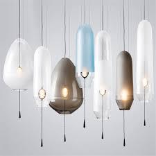 modern glass pendant lights smoke grey blue suspension lamp for living room b bar cafe home lighting h046 dining room pendant lights ceiling lights