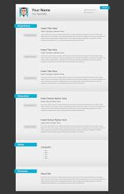 Free Html Resume Versatile Html Resume Template Open Templates Premium Layers Vcard 9
