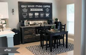 Incredible Coffee Bar Table Diy Gray House Studio Decor Home Design 17