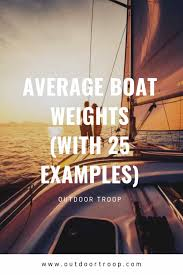 Average Boat Weights With 25 Examples Can You Tow It