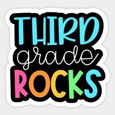 Third Grade Teacher Team Shirts - 3rd Grade Rocks - Teacher - Sticker |  TeePublic