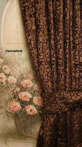 gold red lilac brown natural lined velvet curtains