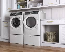 washing machine pedestal.  Machine Electrolux LuxCare EFLS617SIW  Island White Lifestyle View With  Pedestal On Washing Machine Pedestal
