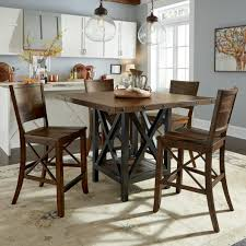 flexsteel wynwood collection carpenter piece counter height dining set s color item number kitchen table tall dinette tables square room round top