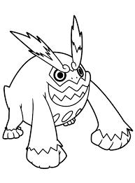 Pokemon Hawlucha Kleurplaten Hawlucha Pokemon Coloring Page Free