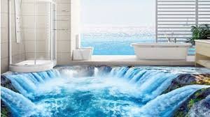 Bathroom:Pvc Isleand 3D Waterproof In Flooring Room Ideas Painting Custom  Design Gallery Wallpaper Bathroom