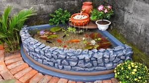 How to Build A Beautiful Waterfall Aquarium Very Easy For Your Family Garden - YouTube