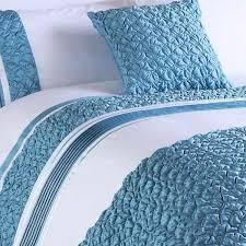 riva home macy pleated pocket duvet cover set white duck egg blue super king linens limited
