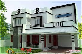 Simple 4 Bedroom House Designs Flat Roof 4 Bedroom Modern House Kerala Home  Design And Floor