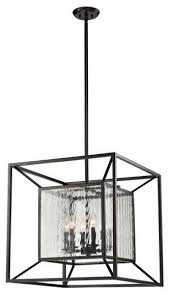 elk lighting 14123 6 cubix 6 light chandelier transitional chandeliers