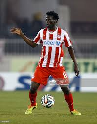 Delvin N'Dinga of Olympiacos is seen during the Superleague match... News  Photo - Getty Images