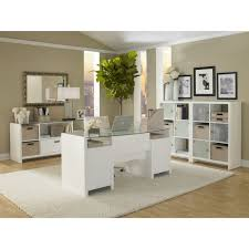 double desks for home office. Kathy Ireland Office By Bush Furniture New York Skyline 63 In. Double Pedestal Desk With Desks For Home D