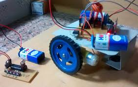 rf controlled robot project and circuit diagrams for rf rf controlled robot out microcontroller