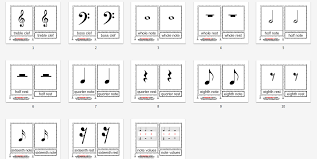 Montessori Music Materials Music Notation Cards Age 3 To 6