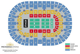 Pechanga Casino Concert Seating Chart Pechanga Arena San Diego The Ultimate Visitors Guide