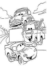 子供向けの車の塗り絵