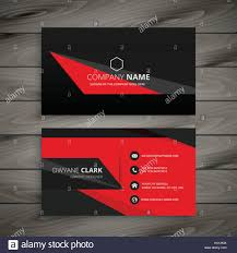 Red Design Company Dark Red Black Business Card Template Vector Design