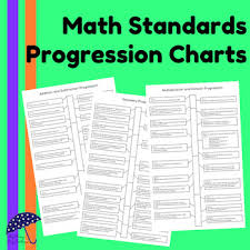 Common Core Math Standards Chart Math Standards Progression Charts