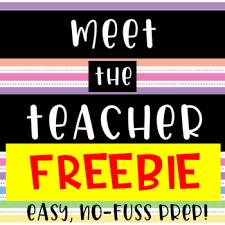 Meet The Teacher Sign In Sheet Welcome Sign Freebie Tpt
