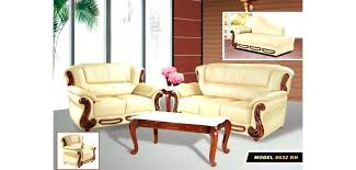 italian leather sofa with wood trim furniture off white living room set t