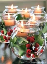 christmas table dressing ideas. Simple Christmas Table Centerpieces Create A Glowing Centerpiece Using Ornaments And Fairy String Lights Easy . Dressing Ideas