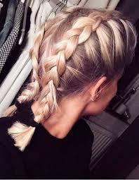 Tresse Coll E Cheveux Mi Long La Tresse Coll E En 20