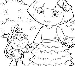 Dora For Coloring Coloring Pages Dora Coloring Book Pdf Download
