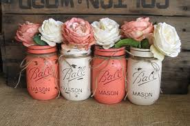 Painted Mason Jars Sale Set Of 4 Pint Mason Jars Ball Jars Painted Mason