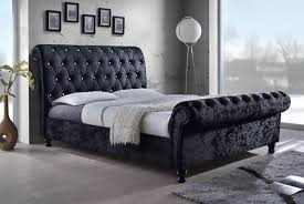 289 for a luxurious double black crushed velvet bed frame with diamanté detailing or 349 for a king size