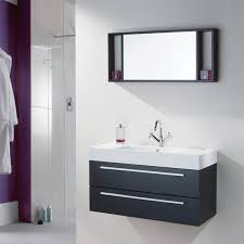 image of modern black bathroom wall cabinet