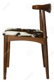 wooden chair side. Stock Photo - Wooden Chair With Cowhide Seat, Side View D