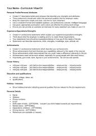 Interest And Hobbies For Resume Samples Cv Examples Example Of In