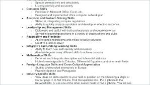 Additional Skills For Resume Gorgeous Things To List As Skills On A Resume Special Skills List Resume