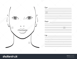 format templates free printable for makeup artist face charts large size chart for makeup artist face