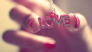 love pendant pink letters with heart