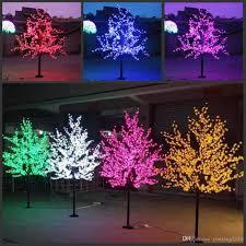 Cherry Blossom Christmas Lights 2m 6 5ft Heigh Led Artificial Cherry Blossom Tree Light Christmas Light Led Bulbs 110 220vac Rainproof Fairy Garden Decor Cheap Christmas Decoration